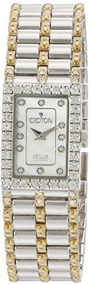Croton Womens Stainless steel Two Tone Mother of Pearl Watch
