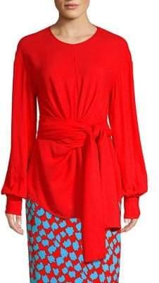 Diane von Furstenberg Tie-Front Blouse