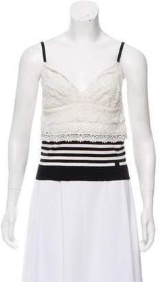 Chanel Lace-Trimmed Crop Top