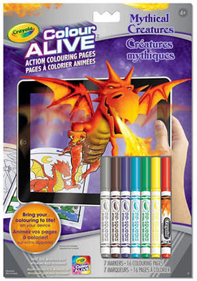 Crayola Mythical Creatures Colour Alive Book