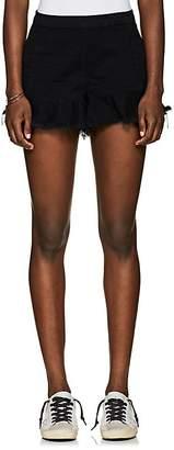 Blank NYC Blanknyc Women's Wedge Frayed Denim Shorts