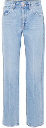 Gold Sign The Classic Fit High-rise Straight-leg Jeans - Light denim