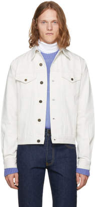 Calvin Klein White Denim Archive Trucker Jacket