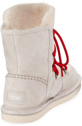 UGG Lodge Fur-Lined Lace-Up Boots