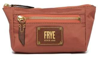 Frye Ivy Nylon Leather-Trimmed Cosmetic Pouch