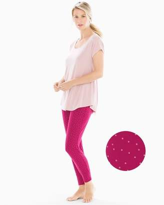 Cool Nights Short Sleeve Pajama Set Festivity Pink