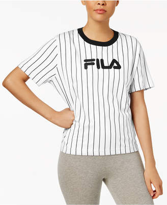 Fila Lonnie Cotton Pinstriped T-Shirt