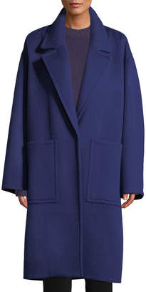 Patch Pocket Wool Car Coat