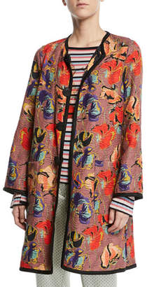 Etro Reversible Matelasse Topper Coat