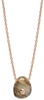 Lola Rose London - Curio Diamond Mini Pebble Necklace Labradorite