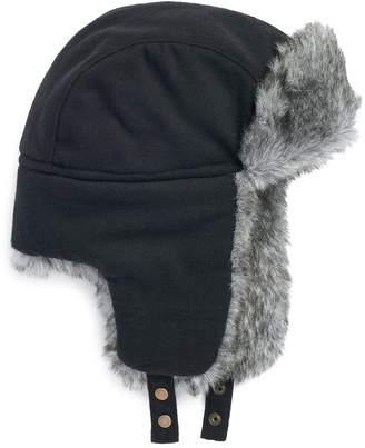 Apt. 9 Men's Herringbone Faux-Fur Trapper Hat