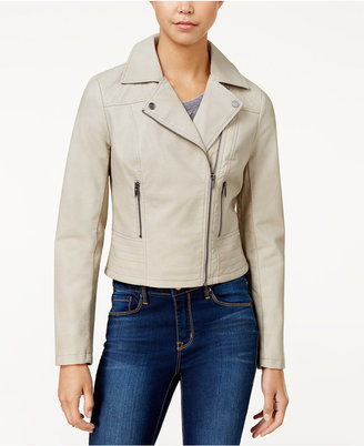 American Rag Faux-Leather Moto Jacket, Only at Macy's $99.50 thestylecure.com
