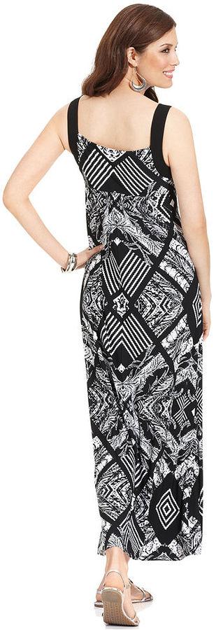 Style&Co. Dress, Sleeveless Printed Maxi