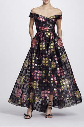 Marchesa Off Shoulder Dress
