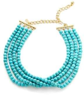 Kenneth Jay Lane Turquoise Beaded Choker Necklace