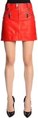 DSQUARED2 Biker Leather Mini Skirt