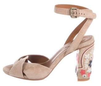 See by Chloe Suede Ankle Strap Sandals