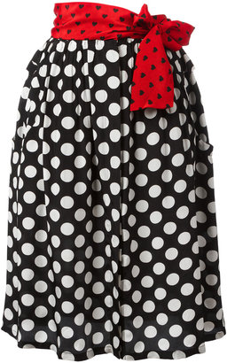 Diesel polka dots A-line skirt $182.70 thestylecure.com