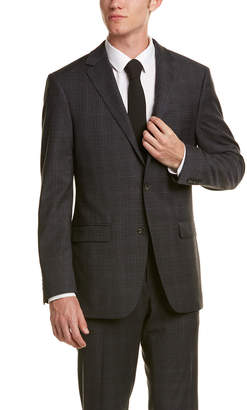 Ike Behar 2Pc Wool-Blend Smart Suit With Flat Front Pant