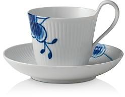 Blue Mega High Handle Cup & Saucer