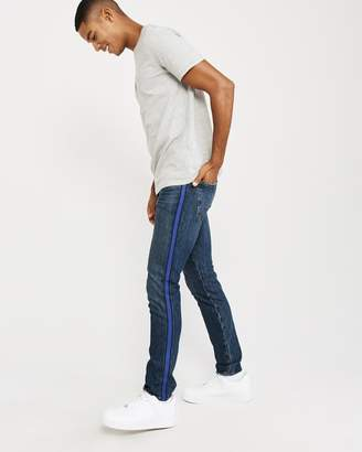Abercrombie & Fitch Super Skinny Side Stripe Jeans