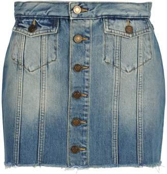 Saint Laurent Mini Skirt Denim