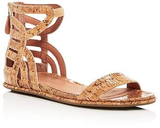 Kenneth Cole Gentle Souls Women's Larisa Glossy Cork Ankle Strap Demi Wedge Sandals