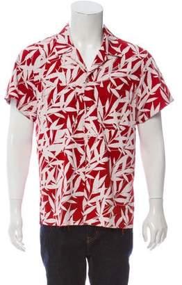 Amiri Leaf Print Button-Up Shirt