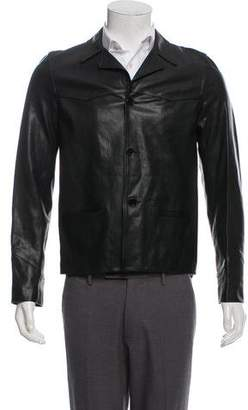 Saint Laurent Leather Silk-Lined Jacket