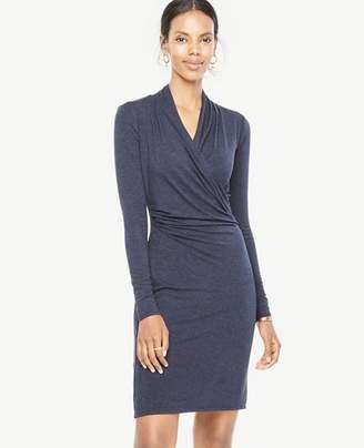 Ann Taylor Tall Faux Wrap Knit Dress