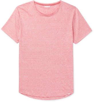 Orlebar Brown Ob-t Slim-fit Striped Slub Linen-jersey T-shirt - Pink