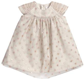 Mamas and Papas Baby-Girls Foil Star Print Starred Short Sleeve Dress