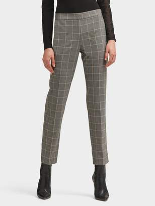 DKNY Printed Straight-Leg Pant With Side Zip