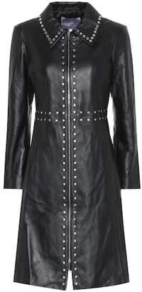 ALEXACHUNG Embellished leather coat