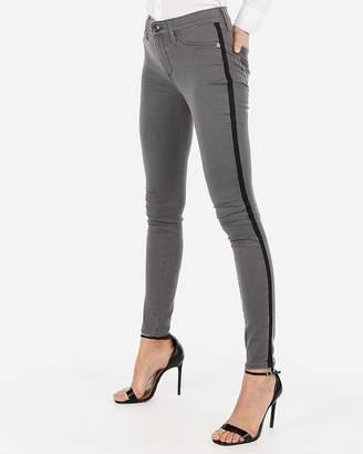 Express Mid Rise Gray Side Stripe Jean Leggings