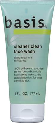 Basis Cleaner Clean Face Wash 6 Fluid Ounce (Pack of 3)