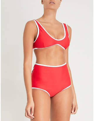 Perfect Moment Ladies Red Retro High-Waist Bikini