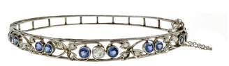 Platinum with Sapphire & Diamond Edwardian Bangle Bracelet