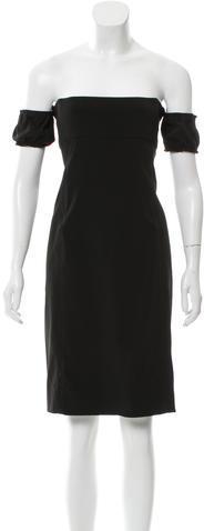 pradaPrada Off-the-Shoulder Cocktail Dress