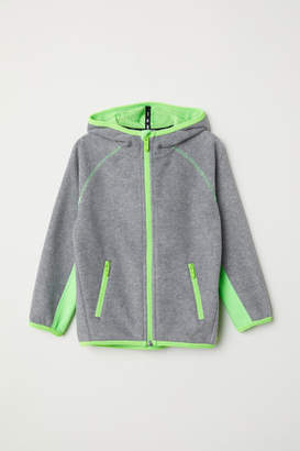 H&M Hooded Fleece Jacket - Gray