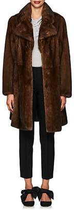 Co Women's Mink Fur A-Line Coat - Brown