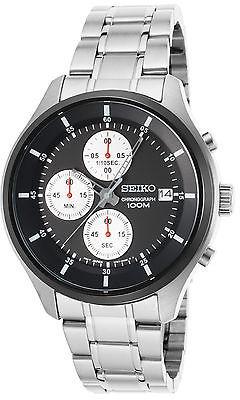 SeikoSeiko SKS545P1 Men's Neo Sports Chronograph Stainless Steel Black Dial &