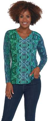 Linea By Louis Dell'olio by Louis Dell'Olio Ombre Printed Knit Top