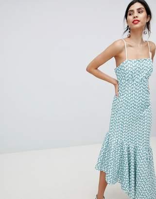 Keepsake broderie maxi dress with fluted hem