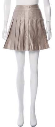 Martin Grant Pleated Mini Skirt