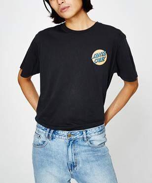 Santa Cruz Japanese Dot Short Sleeve T-shirt Black