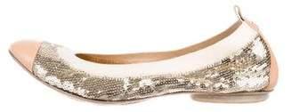 Chanel Sequin Cap-Toe Flats