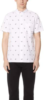 Paul Smith Short Sleeve Casual Fit Zebra Shirt