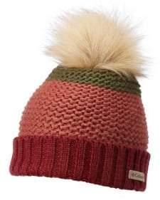 Columbia Holly Peak Faux Fur Pom Pom Beanie
