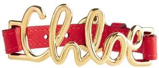 Chloé Leather Logo Bracelet